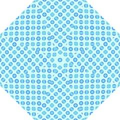 Pastel Turquoise Blue Retro Circles Golf Umbrellas