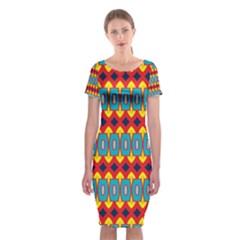 Classic Short Sleeve Midi Dress