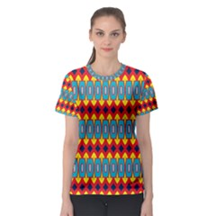 Rhombus and other shapes pattern                                                            Women s Sport Mesh Tee