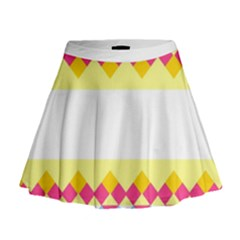 Rhombus and stripes                                                               Mini Flare Skirt