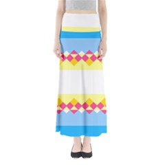 Rhombus and stripes               Women s Maxi Skirt