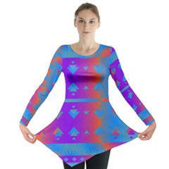 Triangles Gradient                                                             Long Sleeve Tunic