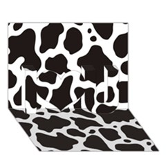 Cow Pattern I Love You 3D Greeting Card (7x5)