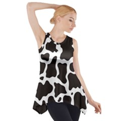 Cow Pattern Side Drop Tank Tunic