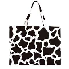 Cow Pattern Zipper Large Tote Bag