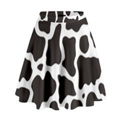 Cow Pattern High Waist Skirt