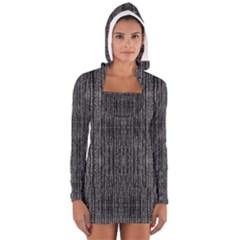 Dark Grunge Texture Women s Long Sleeve Hooded T-shirt