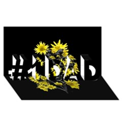 Sunflowers Over Black #1 DAD 3D Greeting Card (8x4)