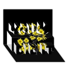 Sunflowers Over Black You Did It 3D Greeting Card (7x5)