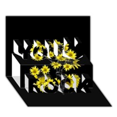 Sunflowers Over Black You Rock 3D Greeting Card (7x5)