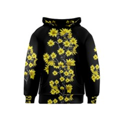 Sunflowers Over Black Kids  Pullover Hoodie