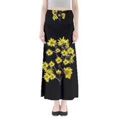Sunflowers Over Black Maxi Skirts