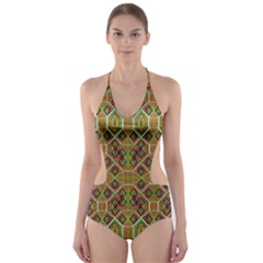 Roulette Cut Out One Piece Swimsuit