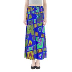 Bright Blue Mod Pop Art  Maxi Skirts