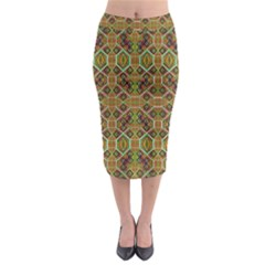 Roulette Board Midi Pencil Skirt
