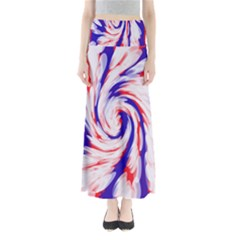 Groovy Red White Blue Swirl Maxi Skirts