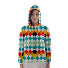 Rhombus pattern                                                              Hooded Wind Breaker (Women)