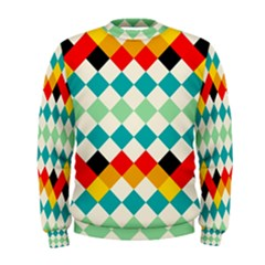 Rhombus pattern                                                               Men s Sweatshirt