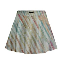 Diagonal stripes painting                                                                 Mini Flare Skirt