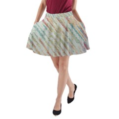Diagonal stripes painting                                                               A-Line Pocket Skirt