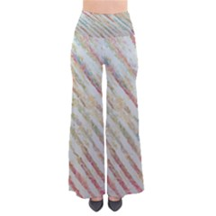 Diagonal stripes painting                                              Women s Chic Palazzo Pants