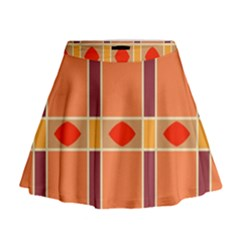 Shapes And Stripes                                                                   Mini Flare Skirt