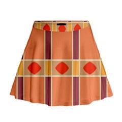 Shapes and stripes                                                                   Mini Flare Skirt