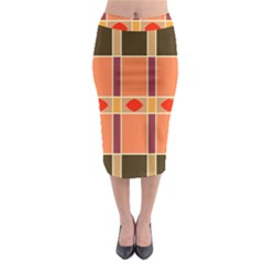 Shapes And Stripes                                                                   Midi Pencil Skirt