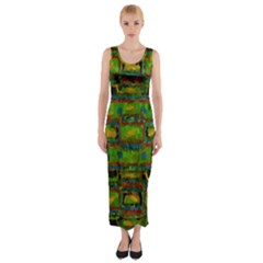Paint bricks                                                                 Fitted Maxi Dress