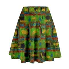 Paint Bricks                                                                   High Waist Skirt