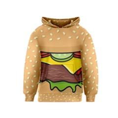 Cheeseburger Kids  Pullover Hoodie