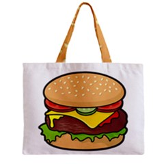 Cheeseburger Zipper Mini Tote Bag
