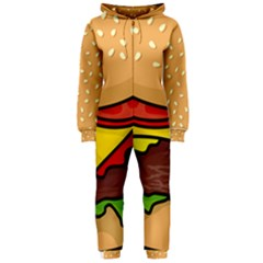 Cheeseburger Hooded Jumpsuit (Ladies)