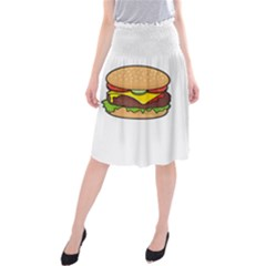 Cheeseburger Midi Beach Skirt