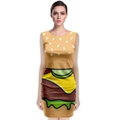 Cheeseburger Classic Sleeveless Midi Dress