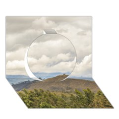 Ecuadorian Landscape At Chimborazo Province Circle 3D Greeting Card (7x5)