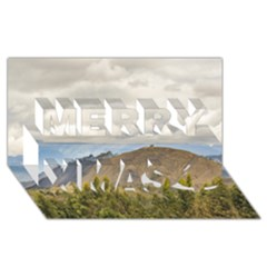 Ecuadorian Landscape At Chimborazo Province Merry Xmas 3D Greeting Card (8x4)