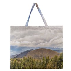 Ecuadorian Landscape At Chimborazo Province Zipper Large Tote Bag