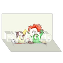 Mud Pies  ENGAGED 3D Greeting Card (8x4)