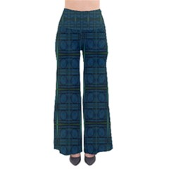 Dark Blue Teal Mod Circles Pants