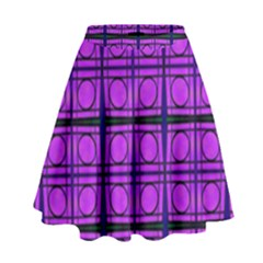 Bright Pink Mod Circles High Waist Skirt