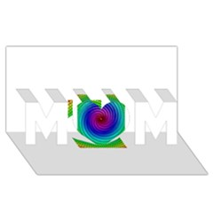 Colors MOM 3D Greeting Card (8x4)