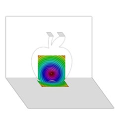 Colors Apple 3D Greeting Card (7x5)
