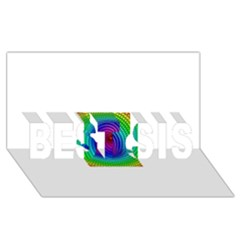 Colors BEST SIS 3D Greeting Card (8x4)