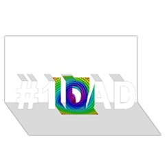 Colors #1 DAD 3D Greeting Card (8x4)