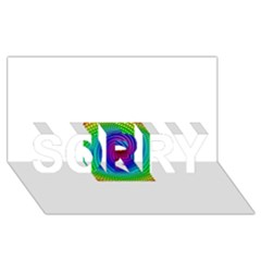 Colors SORRY 3D Greeting Card (8x4)