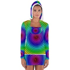 Colors Women s Long Sleeve Hooded T Shirt