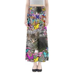 Emma In Butterflies I, Gray Tabby Kitten Maxi Skirts