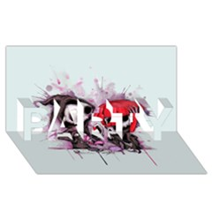 Local Anesthetic PARTY 3D Greeting Card (8x4)