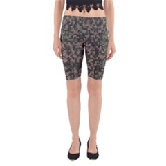 Bermudezyn Jigsaw Camo Pattern Jungle Color Yoga Cropped Leggings